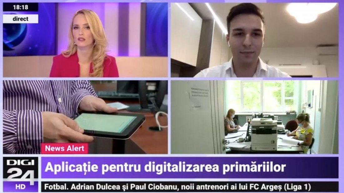 Digi24 | E-primariaTa.ro – Aplicație pentru digitalizarea Primariilor