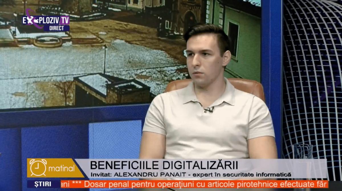 Exploziv Tv – Alexandru Panait | Beneficiile Digitalizarii Administratiei Publice