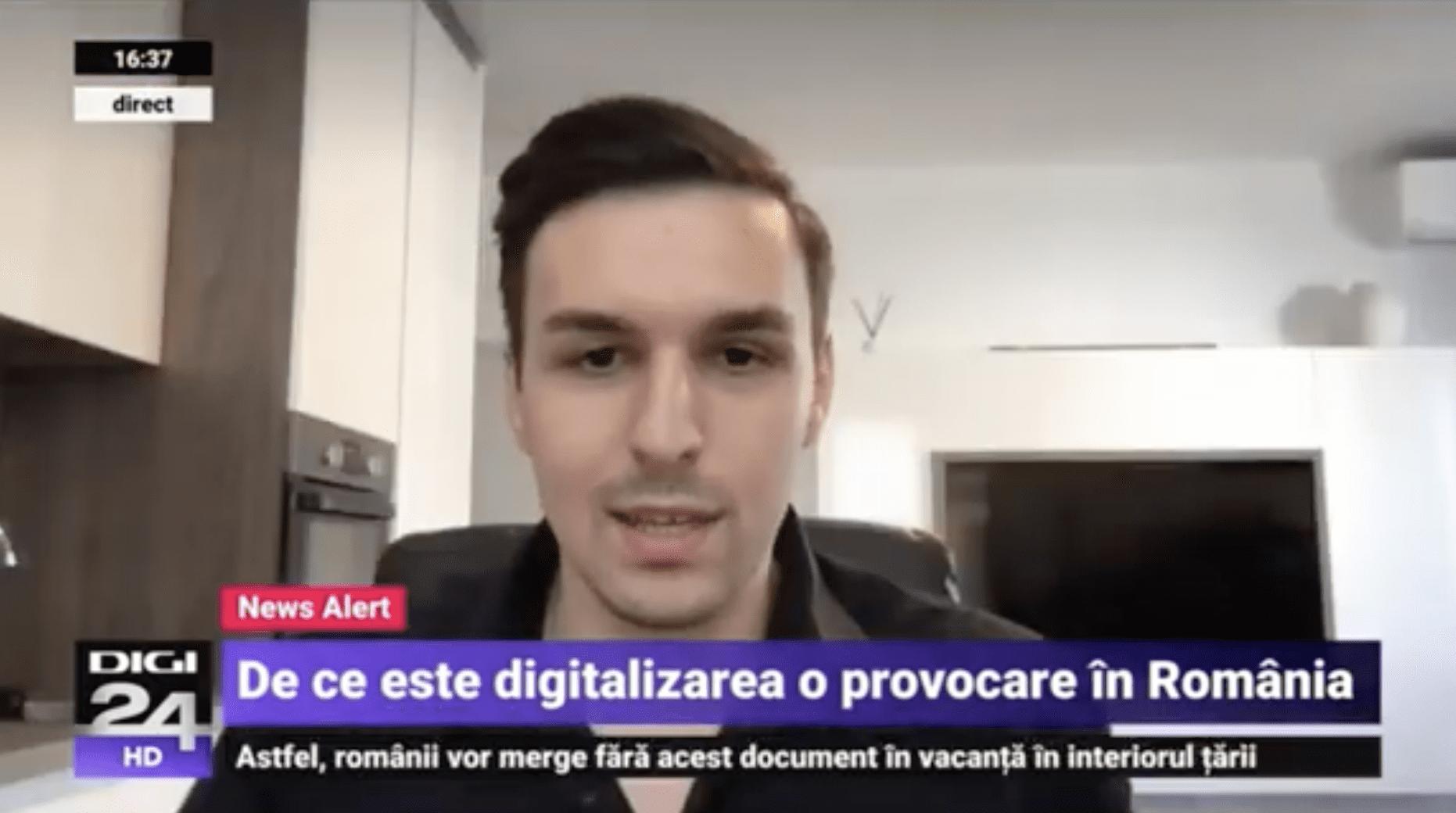 Digi24 – De ce digitalizarea este o provocare in Romania | Alexandru Panait