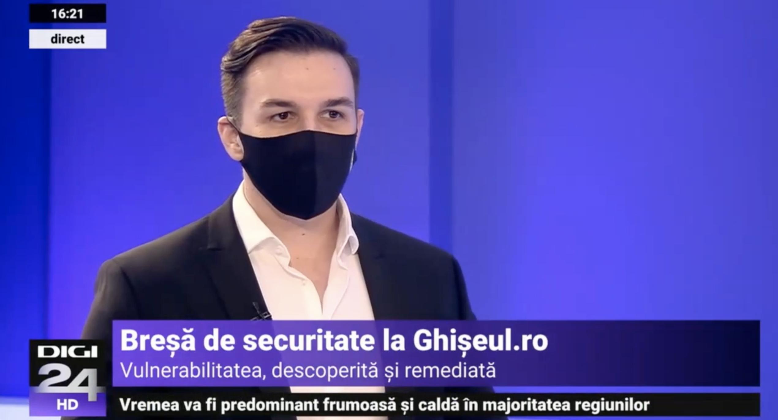 Digi24 | Breșă de securitate Ghișeul.ro, descoperită și remediată